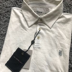 John Varvatos Star USA polo salt cotton shirt L